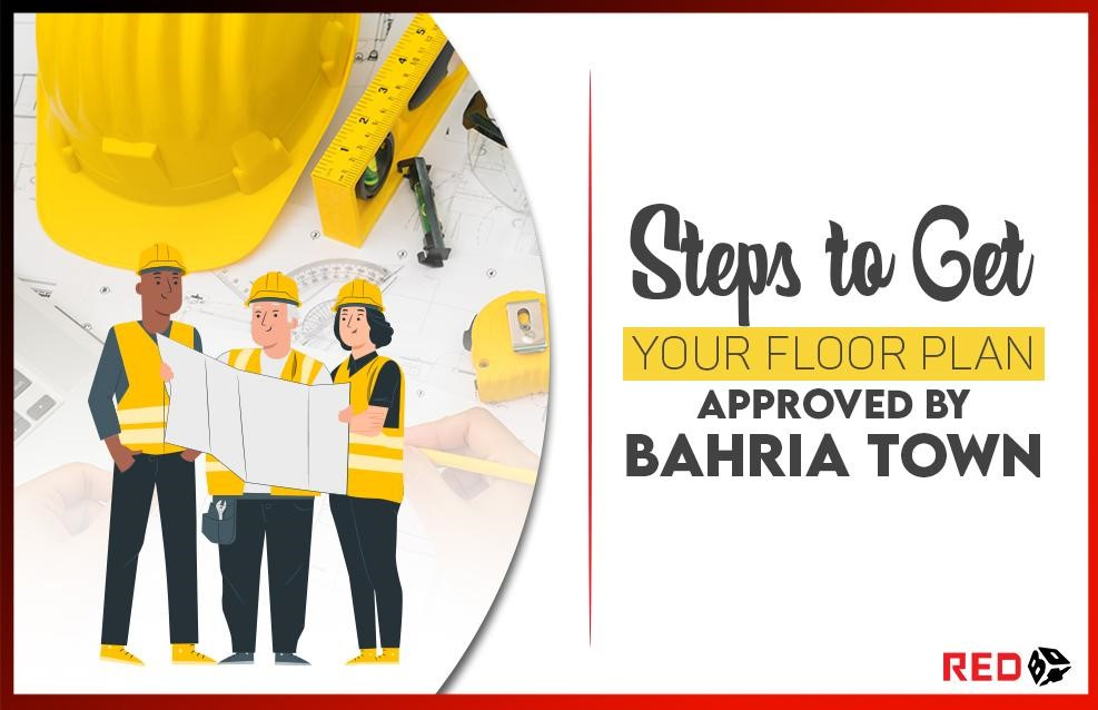 How can you get your floor plan approved in Bahria Town?